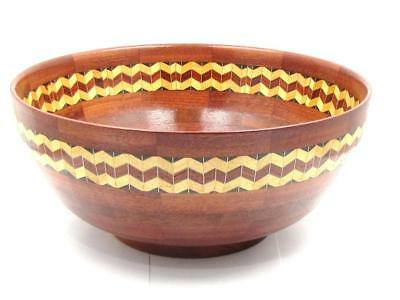 "Unique Exclusive Australian Segmented Wood Turned Bowl  Crafted ""BOB WEMM **"