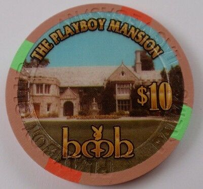 PLAYBOY MANSION Grand Opening $10 CHIP Casino Las Vegas PALMS PLAYBOY CLUB- MINT