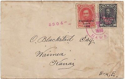 Hawaii Rare Registered Cover With #65 & #61 To Blackstad