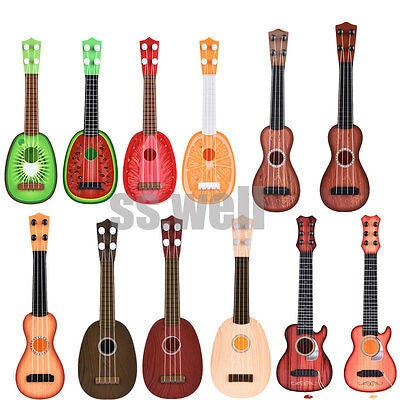 Mini Fruit Classical Musical Instruments Toys Children Kids Learn Guitar Ukulele