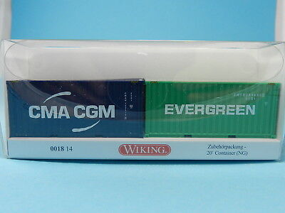 Wiking 001814 Container Set Evergreen & China Cgm 1:87