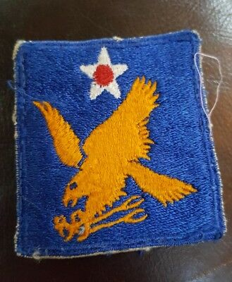 """WWII U.S. ARMY AIR FORCE 2ND AIR FORCE PATCH USAAF Twill  2.5"""" x  2.25"""""""