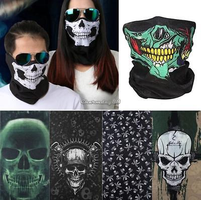 SKull  Cycling Motorcycle Neck Tube Ski Scarf Face Mask Balaclava For Halloween.