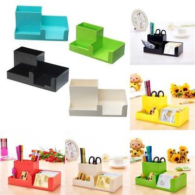Office Home Plastic Desk Pen Pencil Holder Storage Box Stationery Organizer