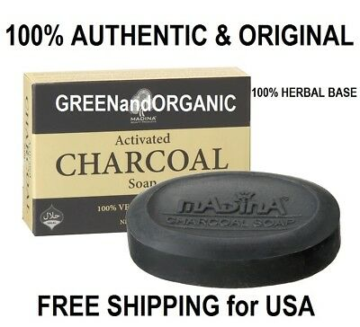Madina Anti-Aging ACTIVATED CHARCOAL SOAP BAR Acne Pimples Detox Cleanse Herbal