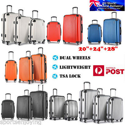 "3/2/1PCS Travel Luggage Suitcase Trolley Sets TSA Carry On Bag Hard Case 20""-28"""