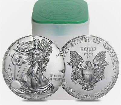 Lot of 2 SAE 2017 Silver American Eagle 1 oz. .999 US $1 Dollar BU Uncirculated