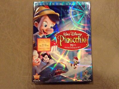 WALT DISNEY 70th Anniversary Pinocchio  DVD 2-Disc Platinum Edition Lot 2