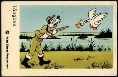 1966 Vintage Swedish Unnumbered Disney Set Gum Card Goofy