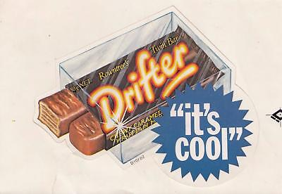 DRIFTER chocolate bar sticker from the 1980's New Old Stock 13cm long