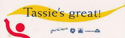 Tassie's Great sticker from 1980's New Old Stock 18cm long