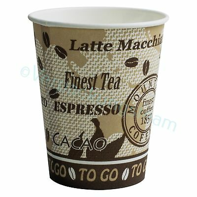 Kaffeebecher Premium Coffee to go Pappbecher Trinkbecher beschichtet 180 ml