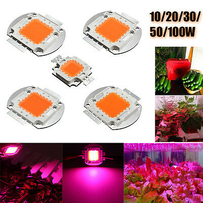 100W 50W 30W 20W 10W 380NM-840NM High Power LED Chip Grow Light Full Spectrum