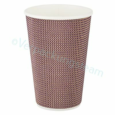 Premium Einwegbecher Doppelwand isoliert Coffee to go beschichtet 400ml 510ml