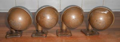 Vintage Antique 4 X Archibald Kendrick Heavy Duty Large Shepherd 62Mm Castors