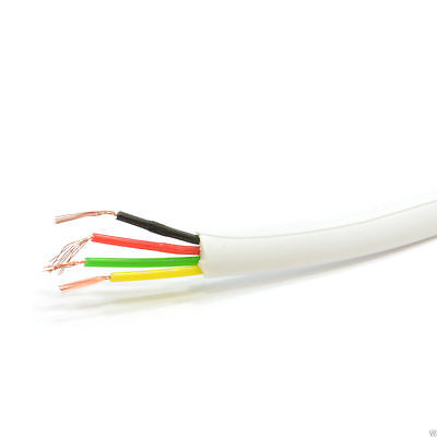 4 Wire Flat BT Telephone Cable Wire for RJ11 RJ10 15m