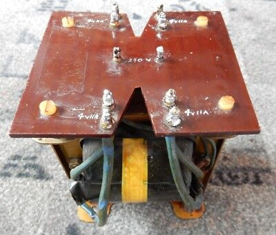 Mains Transformer. 240V Primary, 4 X Secondary; 4V At 11A Tested.