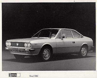 Lancia Coupe 1300 L.h.d. Circa 1977 Model Period Photograph.