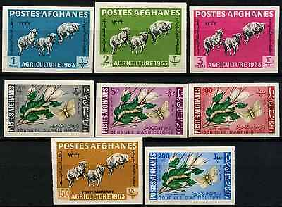 Afghanistan 1963 Agriculture Day Sheep, Silkworms MNH Imperf Set #D33277