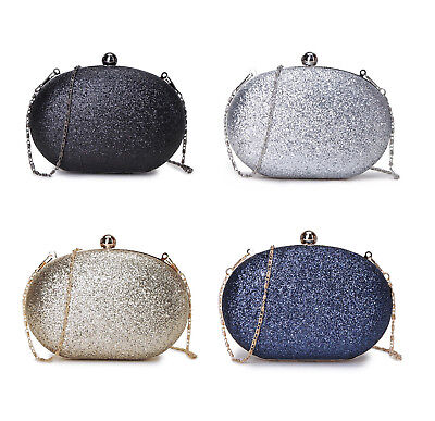 f9d367dbab Sparkle Glitter Oval Evening Clutch Bag Choice Of Colours Gold/Silver /Black/Blue
