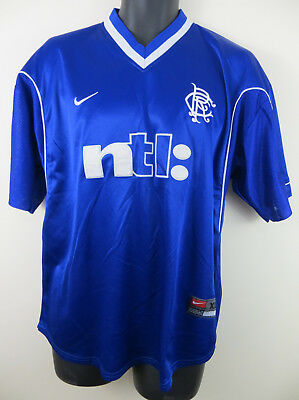 Rangers 1999 Home Football Shirt 99/01 Nike 90s Soccer Jersey Camisa XL 45/47
