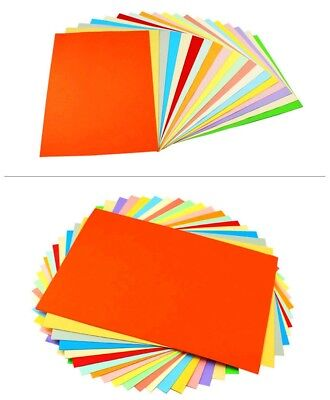 70 Grams100 x A4 Colour Xeroxing Paper Assorted Arts Crafts Card Making NEW