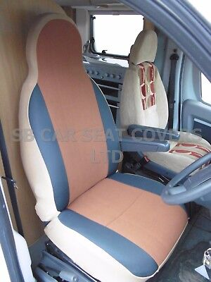 i-TO FIT FORD TRANSIT 2008 MOTORHOME SEAT COVERS, TAN SUEDE MH-001