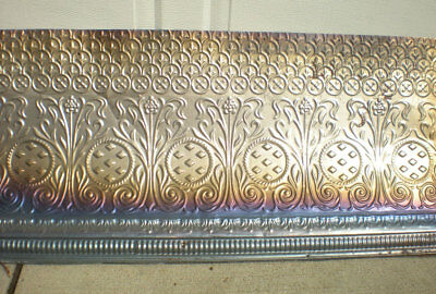 SALE Iridescent Antique Victorian Ceiling Tin Tile Nouveau Pie Cupboard Chic