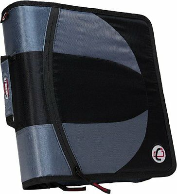Case-it Dual 2-in-1 Zipper D-Ring Binder, 2 Sets of 1.5-Inch Rings with Pencil