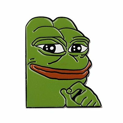 Gudeke Smug Frog Pepe Lapel Pin New