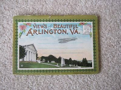 Vintage Antique ~ VIEWS OF BEAUTIFUL ARLINGTON, VA ~ Post Card Booklet