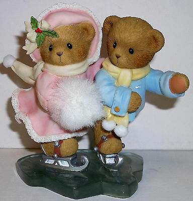 Cherished Teddies Monika & Joerg Figurine NEW # 4010087 Gliding Through Holidays