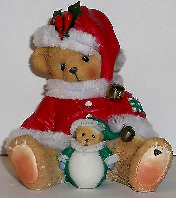 Cherished Teddies Ho! Ho! Ho! Merry Christmas Figurine NEW # 4005480 Carlton