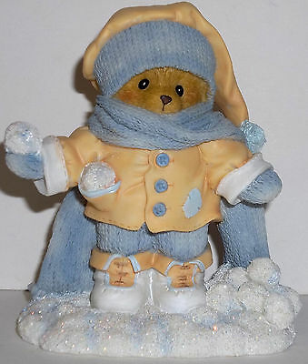 Cherished Teddies Anderson Figurine NEW # 4040464 Having A Ball In The Snowfall