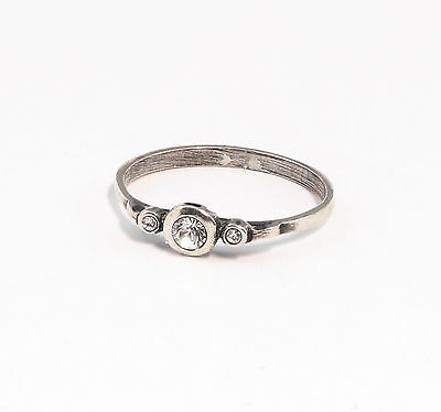 Silver 925 Ring with Swarovski Stones Big 53 delicate a9-01377