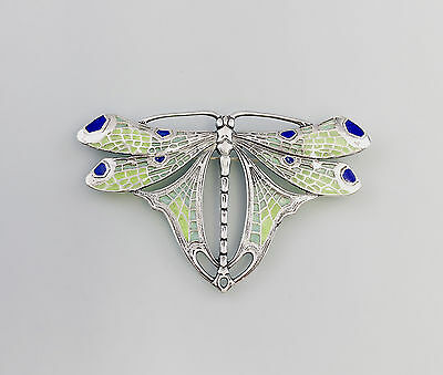 925 Silver enamelled Brooch Dragonfly a8-01281