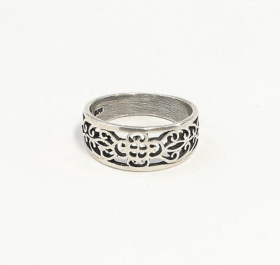 925 Silver Ring Big 53 open decorated a8-01418