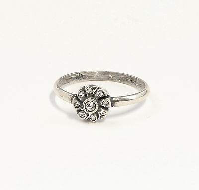 Silver 925 Ring with Swarovski Stones Big 53 floral design a1-01375