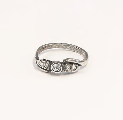 Silver 925 Ring with Swarovski Stones Big 51 a1-01387
