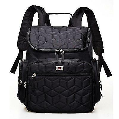 YuHan Waterproof Baby Diaper Bag Nappy Backpack Changing Mat Insulation Pocket