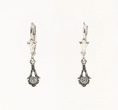 Silver 925 Earrings with Swarovski Stones a9-01457