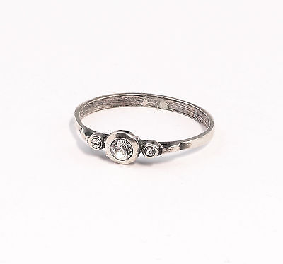 Silver 925 Ring with Swarovski Stones Big 53 delicate a2-01377