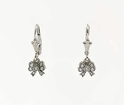 Silver 925 Earrings with Swarovski Stones Bows a2-01447