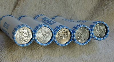 ALL 5 GEM BANK-WRAPPED ROLLS WESTWARD JOURNEY 2004-2006 D-Mint Buffalo Keelboat