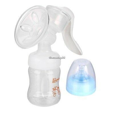 Strong Manual Comfort Massage Breast Pump Baby Milk Bottle Nipple BPA-Free C1MY