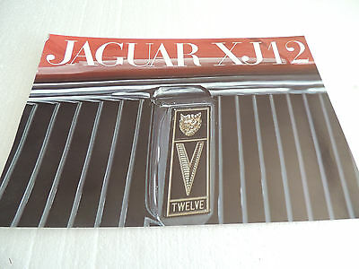 Jaguar XJ12 brochure catalogue 1972 scarce