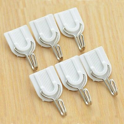 6Pcs Super Strong Sticky Hook Wall Mount Holder Door Hanger Self Adhesive Hook