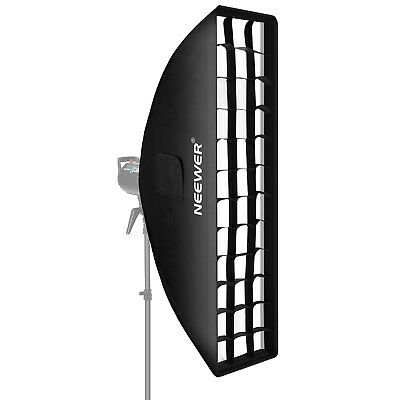 Neewer 20x90cm Softbox Attacco Bowens con Griglia per Flash Speedlite da Studio