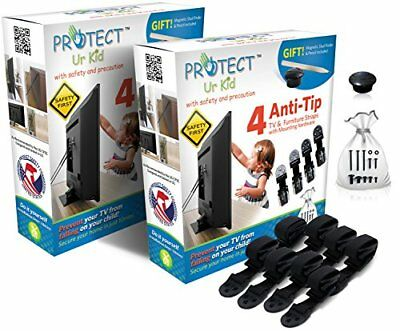 Flat Screen TV & Furniture Anti tip Safety Wall Anchor Straps, Earthquake Safe,