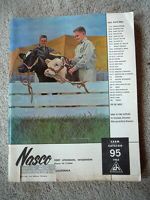 NASCO Vintage 1965 FARM SUPPLIES CATALOG LIVESTOCK AGRONOMY DAIRY FENCING 208pg